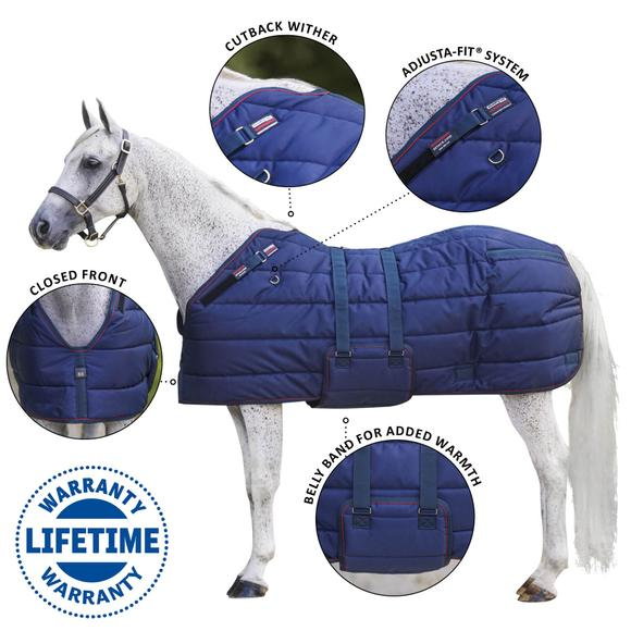 Adjusta-Fit® SuperQuilt® Cutback Bellyband Stable Blanket - Extra Heavyweight