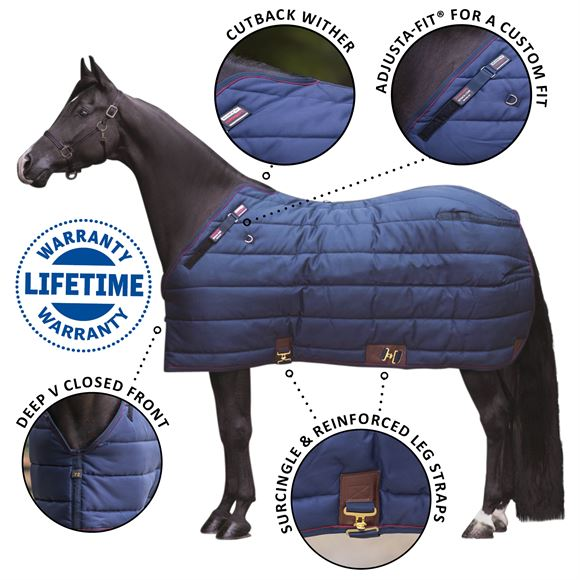 Adjusta-Fit® SuperQuilt® Cutback Leg Strap Stable Blanket - Extra Heavyweight