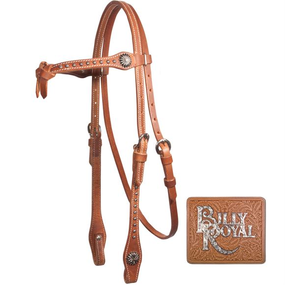 Billy Royal® Studded Futurity Headstall