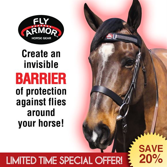 Fly Armor™ Repellent Browband