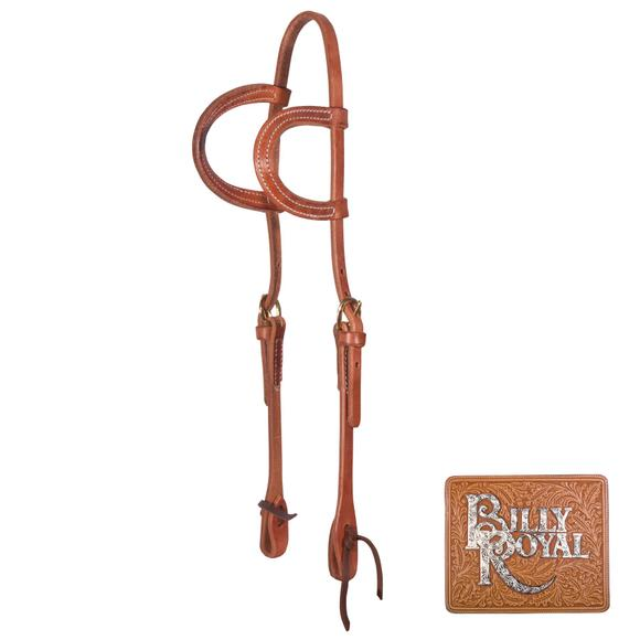 Billy Royal® Hermann Oak Leather Two Ear Headstall