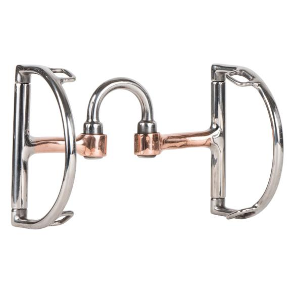 FES Copper Correction D Ring Bit with curb hook slots