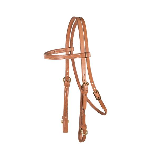 Billy Royal® Harness Leather Browband Headstall with Buckle Ends