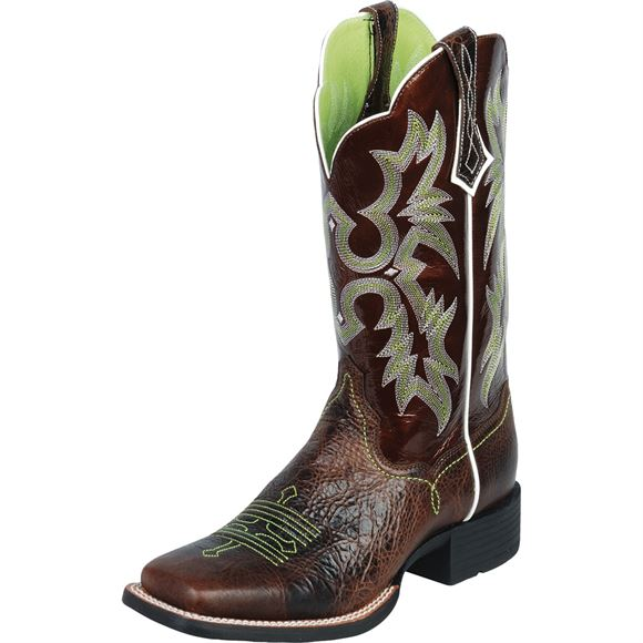 Ariat L Tombstone- Chocolate/Green