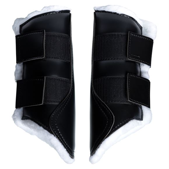 Horse M Professional Equine Over-Reach Sports Bell Boots Wrap Sheep skin 4104