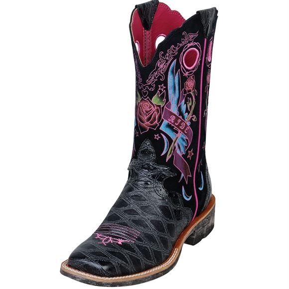 Ariat® RodeoBaby Black Rocker Boot