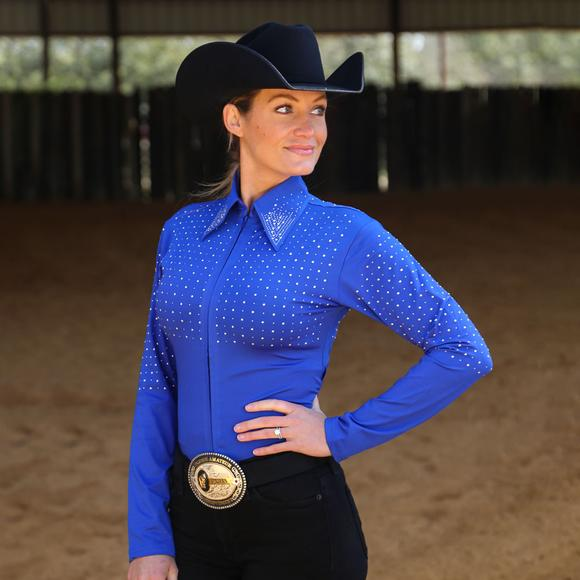 Cowgirl Royalty Ladies Sparkle Western Show Shirt