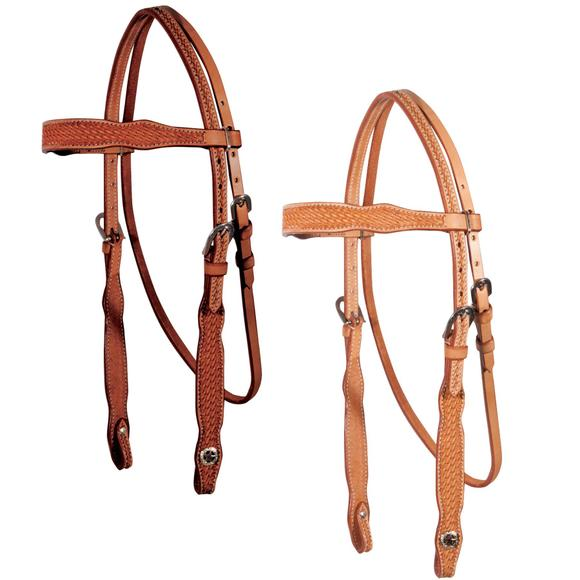 Double S Basketweave Browband Bridle