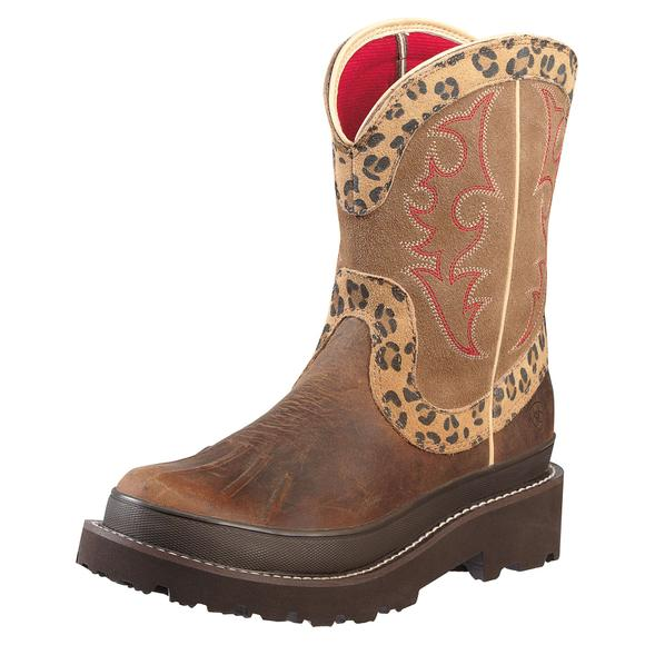 Ariat Ladies Fatbaby Duck Boot Distressed/Leopard