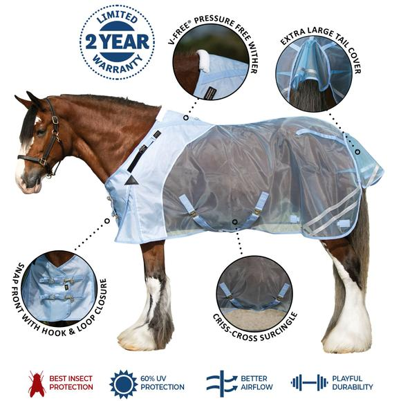 Big Fella Mosquito Mesh Fitted V-Free® Draft Fly Sheet