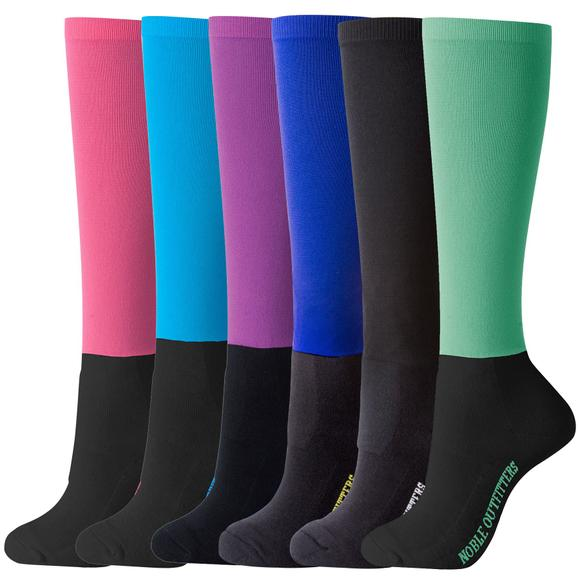 Noble Equestrian® Ladies Solid Peddies™ Socks
