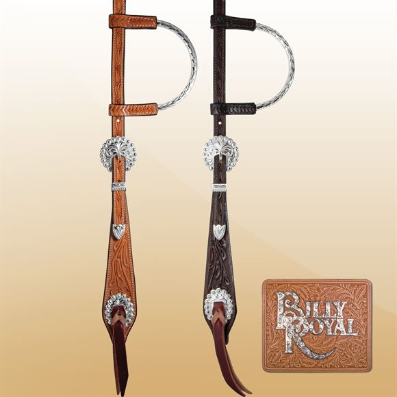 Billy Royal® Mohave Flared Cheek Two Ear Headstall