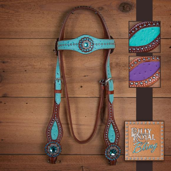 Billy Royal® Bling Wild Ostrich Browband Bridle