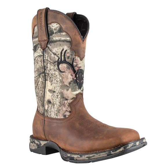 Durango® Men's Waterproof Rebel Distressed Camo Boots