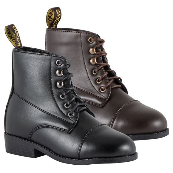 Saxon Equileather Children's Lace Paddock Boot