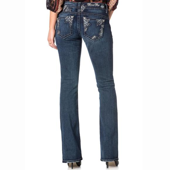Miss Me Feeling Sparkly Boot Cut Ladies Jeans
