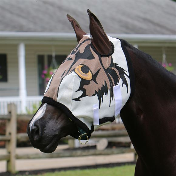 Dura-Tech® Tiger Fly Mask with Ears