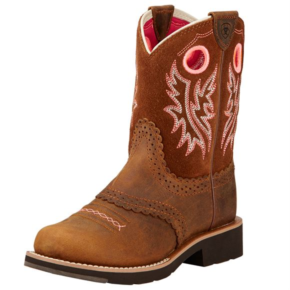 Ariat Kids/Youth Fatbaby Powder Brown Cowgirl Boot