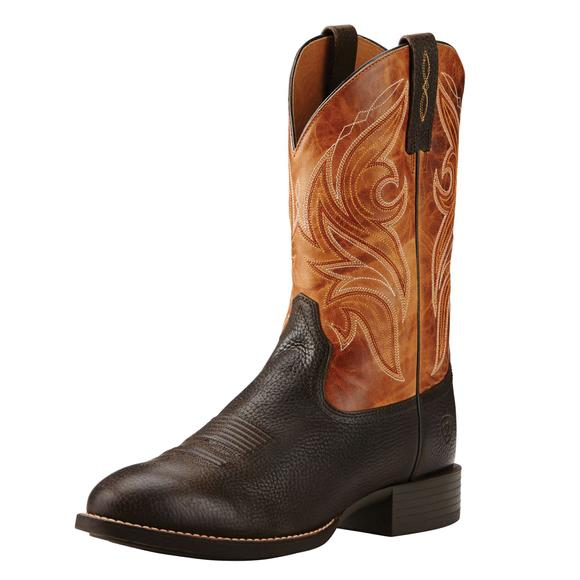 Ariat Men's Heritage Iron Coffee Cowpuncher Boots