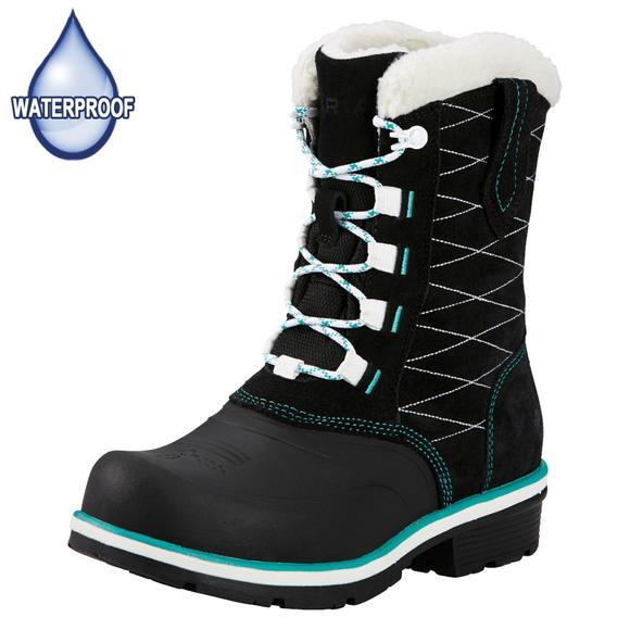 Ariat Ladies Black H2O Whirlwind Cozy Boots