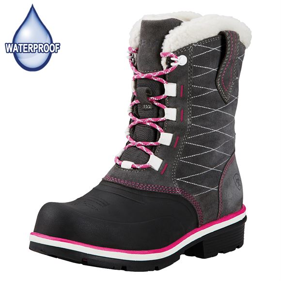 Ariat Ladies Pewter H2O Whirlwind Cozy Boots