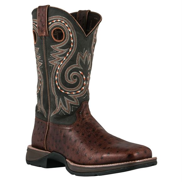 Durango Men's Ostrich Embossed Rebel Boots