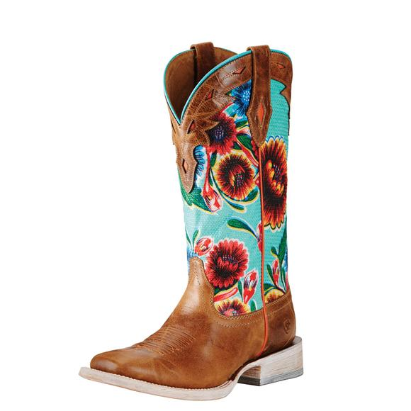 Ariat Ladies Circuit Champion Floral Western Boots