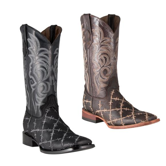 Ferrini Men's Barbed Wire Western Boots