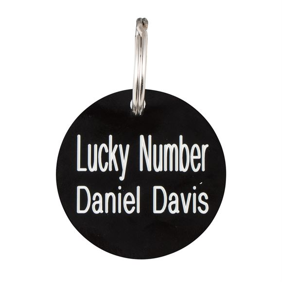 Personalized Plastic Round ID Tag