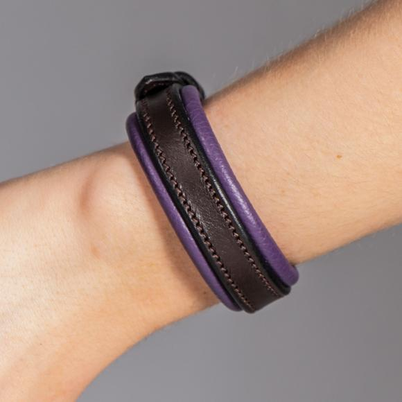 Equestrian Padded Leather Bracelet
