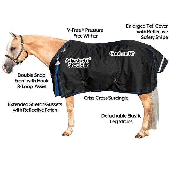 ARMORFlex® Gladiator V-Free® Fit Heavyweight Turnout Blanket - Surcingle