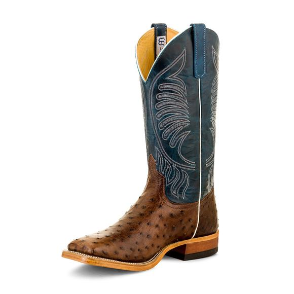 Anderson Bean Men's Kango Tabac Mad Dog Full Quill Ostrich Western Boots