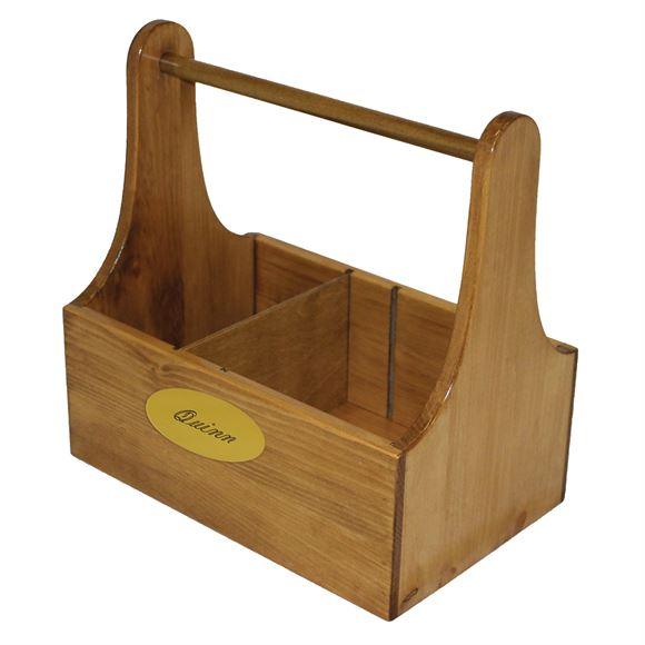 Wooden Grooming Box with Brass Name Plate