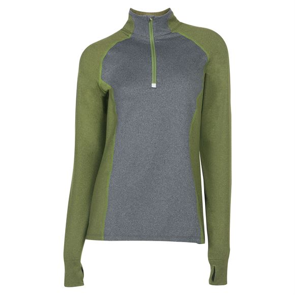 Noble Outfitters™ Ladies Athena 1/4 Zip Long Sleeve Shirtimage