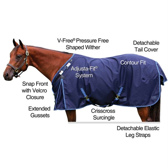 2017 StormShield® V-Free® New Briton Surcingle Turnout Blanket - Heavyweight