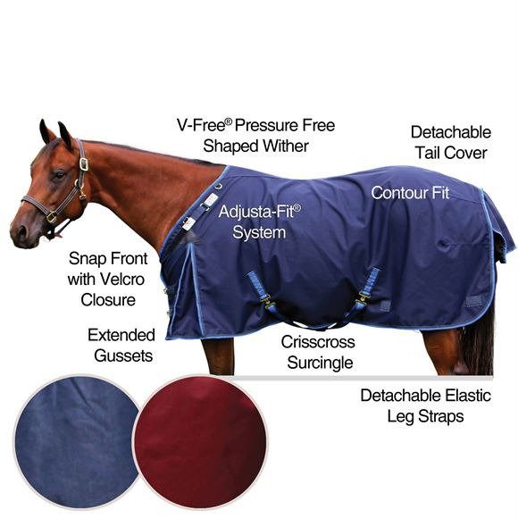 2017 StormShield® V-Free® New Briton Surcingle Turnout Blanket - Midweight