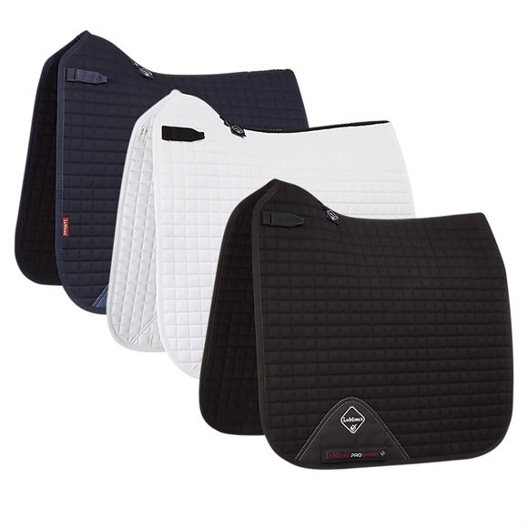LeMieux® Prosport Square Plain Cotton D-Ring Dressage Saddle Pad