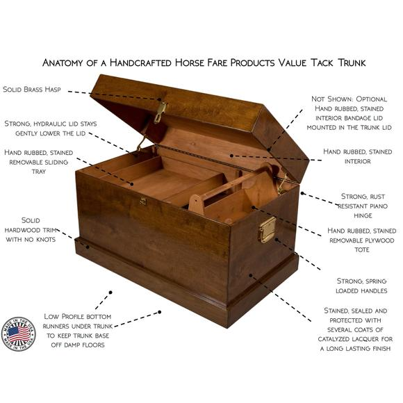 Horse Fare Large Value Wood Tack Trunk