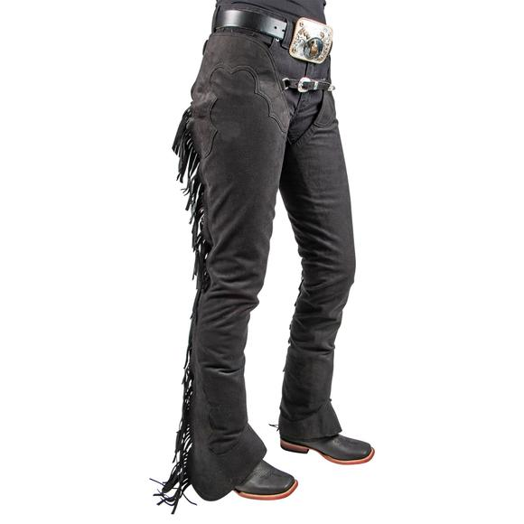 Hobby Horse Ultrasuede Fringed Western Show Chaps