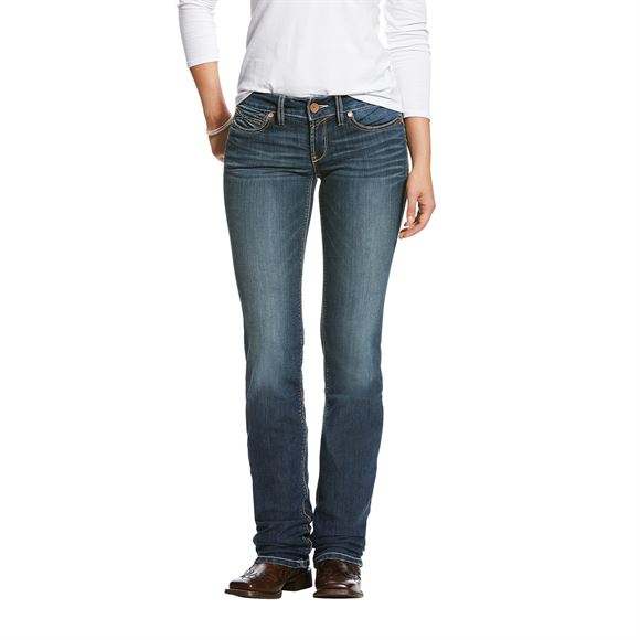 Ariat® Ladies R.E.A.L™ Straight Handcrafted Low Rise Jean