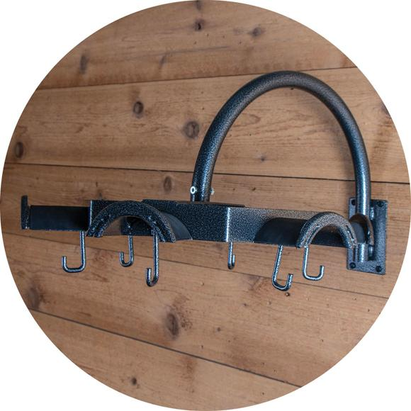 Keep Your Tack Room Clean and Organized with this Tack Rack