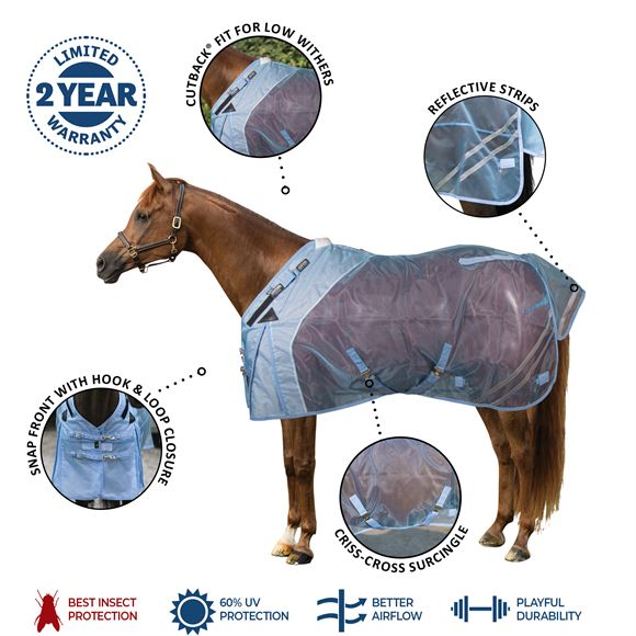 Mosquito Mesh Cutback Surcingle Fly Turnout Sheet