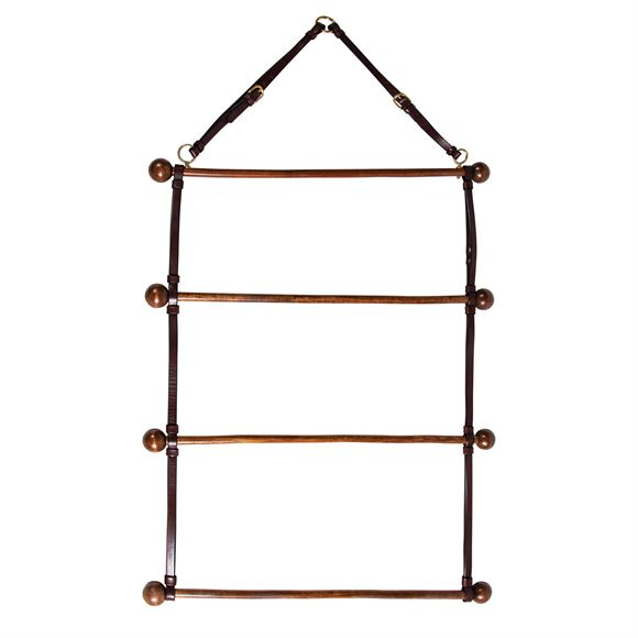 Schneider's Leather and Wood Cooler and Blanket Hanger
