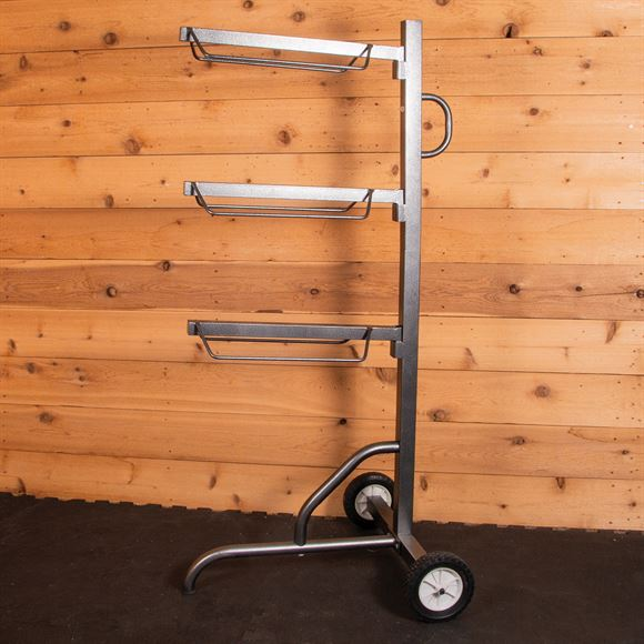 Easy-Up® Pro Series 3 Tier Saddle Rack on Wheels
