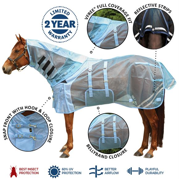 Mosquito Mesh® V-Free® Bellyband Combo Fly Sheet