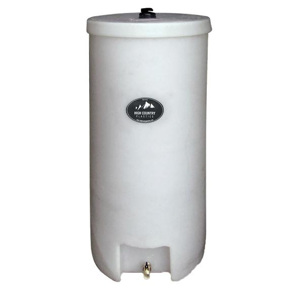 High Country Plastics 35 Gallon Round Barrel Water Caddy