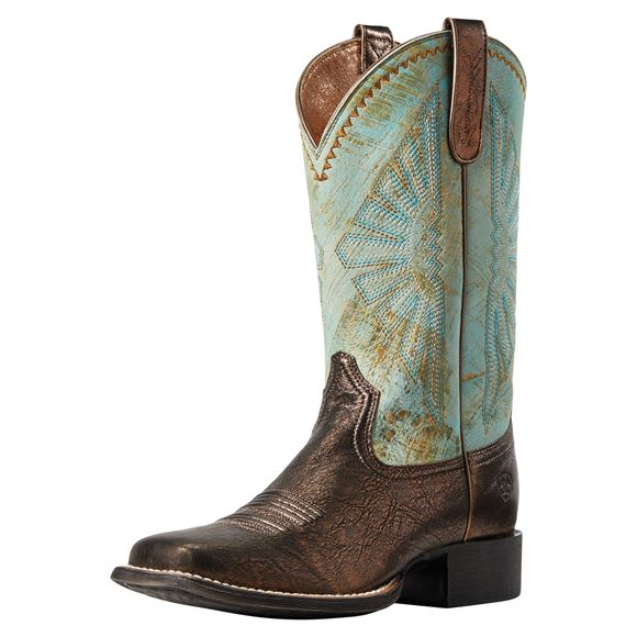 Ariat® Ladies Round Up Rio Dark Bronze Jade Western Boots
