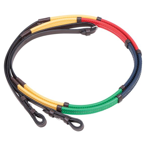 Pinnacle Rainbow Reins with Leather Stops