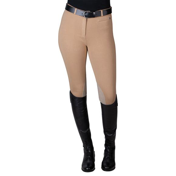 Dublin® Supa-Fit Zip Up Suede Knee Patch Breeches