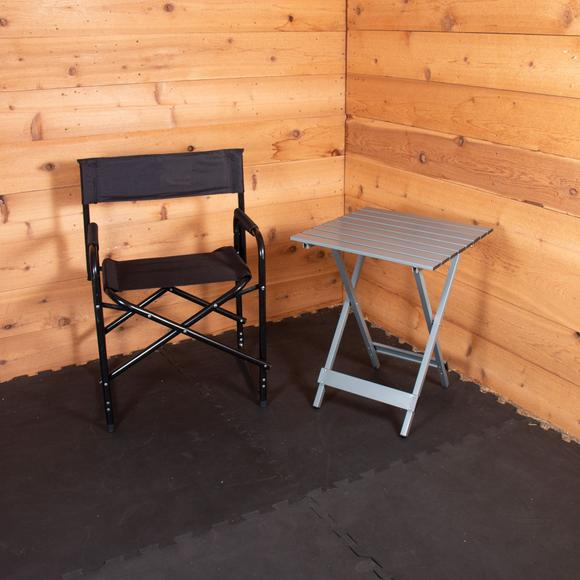 Dura-Tech® Folding Director's Chair and Table Bundle